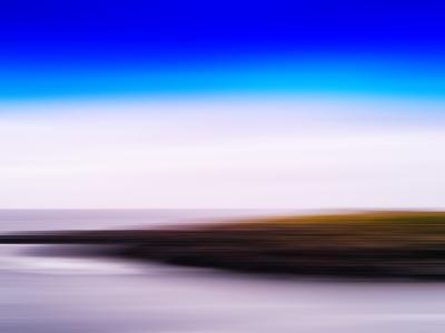 Horizontal Vivid Motion Blur Nordic Fjord Island Landscape Abstr-Nickolay Loginov-Photographic Print