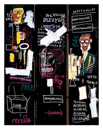 Jean Michel Basquiat Horn Players  Giclee Art Paper Print Poster Reproduction