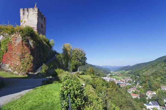 Hornberg Castle and View over Gutachtal Valley, Black Forest, Baden Wurttemberg, Germany, Europe-Markus Lange-Photographic Print