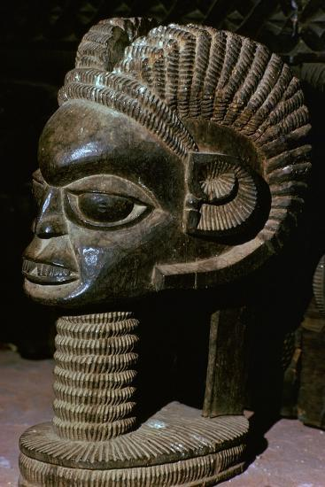 Horned head from the shrine of a King of Owo-Unknown-Giclee Print