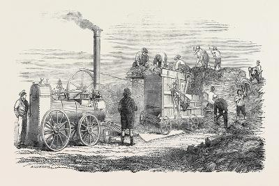 Hornsby's Portable Steam Engine and Threshing Machine, the Great Exhibition--Giclee Print