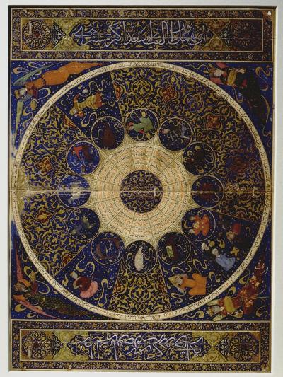 """Horoscope of Prince Iskandar, Grandson of Tamerlane (Timur) from """"The Book of the Birth of…--Giclee Print"""