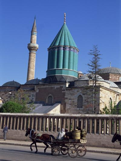 Horse and Cart Passes the Mevlana Tekke Museum, Konya, Anatolia, Turkey-Woolfitt Adam-Photographic Print
