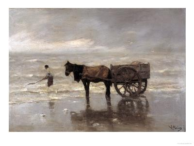Horse and Cart-Anton Mauve-Giclee Print