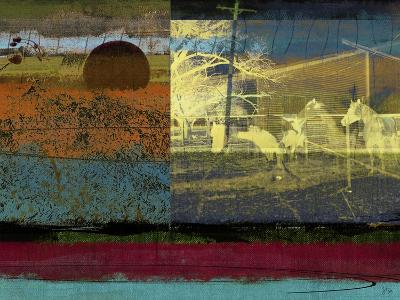 Horse and Hay Collage-Sisa Jasper-Art Print