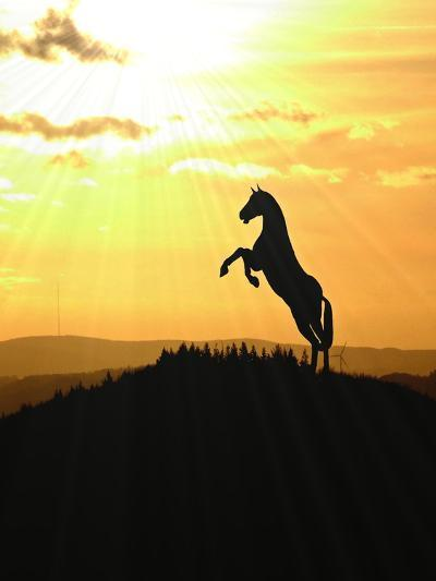 Horse Animal Farm Sunset-Wonderful Dream-Art Print