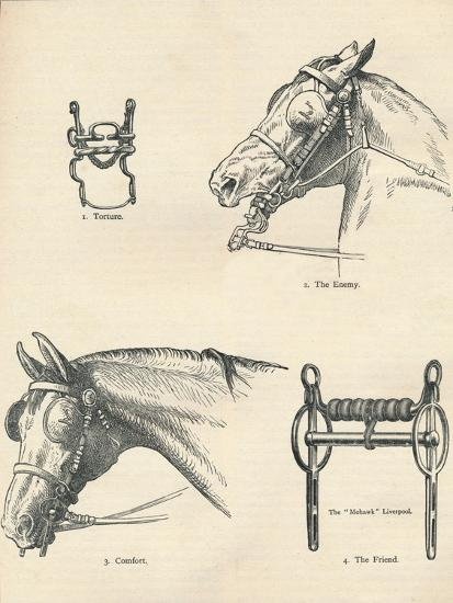 Horse bits, good and bad, c1909 (c1910)-Unknown-Giclee Print