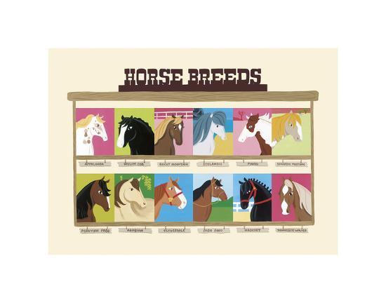 Horse Breeds-Janell Genovese-Art Print