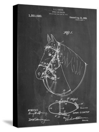 Horse Bridle Patent--Stretched Canvas Print