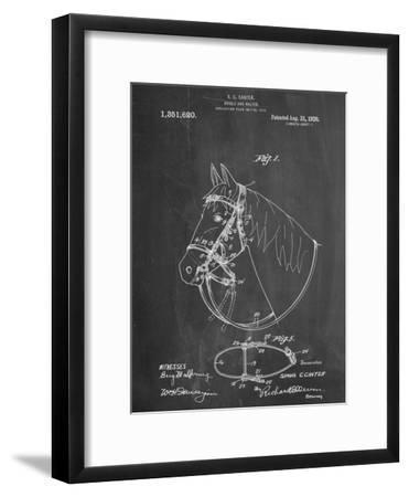 Horse Bridle Patent--Framed Art Print
