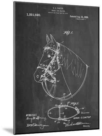 Horse Bridle Patent--Mounted Art Print