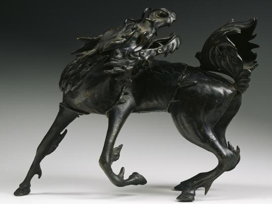 Horse, Bronze Statue, China--Giclee Print