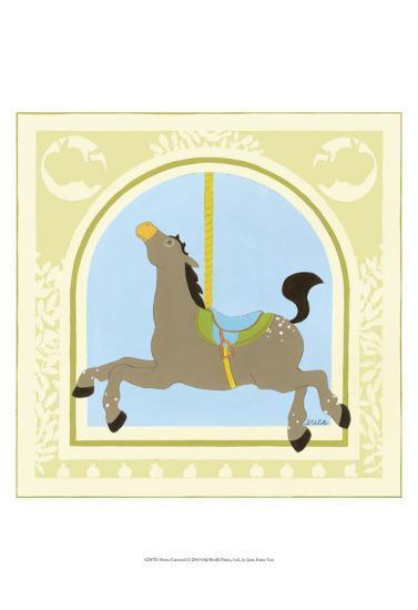 Horse Carousel-Erica J^ Vess-Art Print