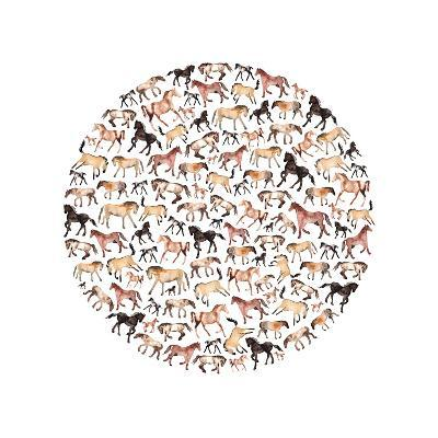 Horse Circle-Elena O'Neill-Art Print