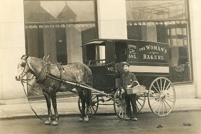 Horse-Drawn Bakery Wagon--Art Print