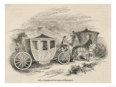 Horse-Drawn Coaches from the Time of Charles II--Giclee Print