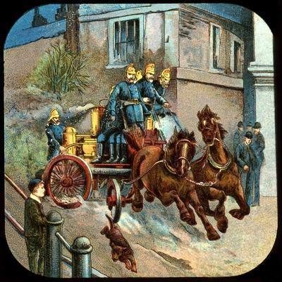 Horse-Drawn Fire Engine, C19th Century--Giclee Print