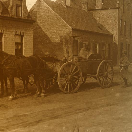 Horse-drawn kitchen, c1914-c1918-Unknown-Photographic Print