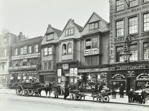 Horse Drawn Vehicles and Barrows in Borough High Street, London, 1904