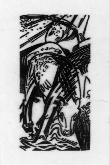 Horse Drinking (Lankheit 832), 1912-Franz Marc-Giclee Print