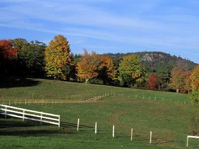 Horse Farm in New England, New Hampshire, USA-Jerry & Marcy Monkman-Photographic Print