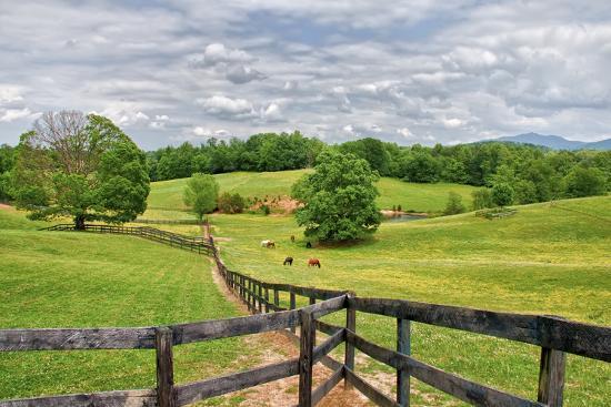horse farm-Bob Rouse-Photographic Print