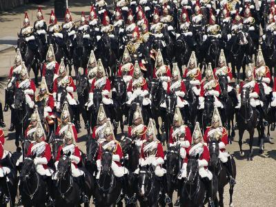 Horse Guards at Trooping the Colour, London, England, United Kingdom-Hans Peter Merten-Photographic Print
