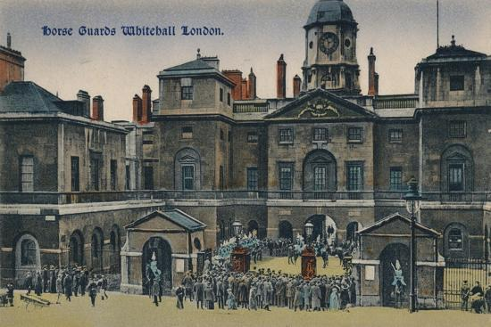 'Horse Guards Whitehall London', c1910-Unknown-Giclee Print
