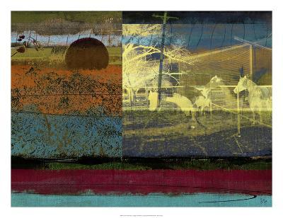 Horse & Hay Collage-Sisa Jasper-Giclee Print