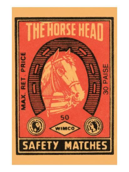 Horse Head Safety Matches--Art Print