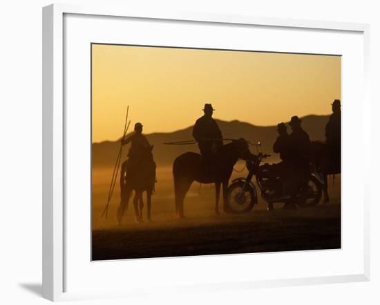 Horse Herders Returning Home after a Horse Festival in Karakorum, Hangai Province, Mongolia-Paul Harris-Framed Photographic Print