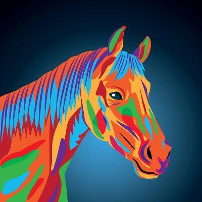 Horse Icon. Animal and Art Design. Graphic- Jemastock-Art Print