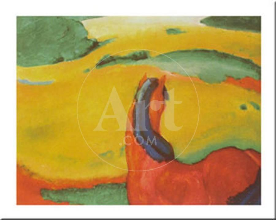 Horse In A Landscape, c.1910 Art Print by Franz Marc | the NEW Art.com