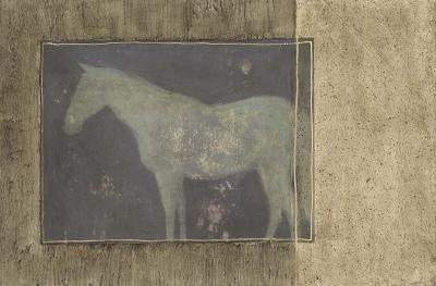 Horse in Textured Frame II--Art Print