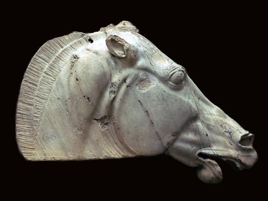 Horse of Selene from the Parthenon. Artist: Unknown-Unknown-Giclee Print