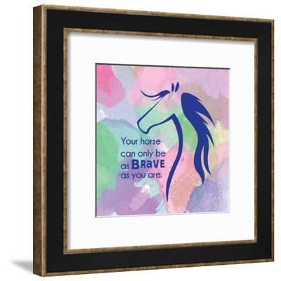 Horse Quote 14-Sports Mania-Framed Art Print
