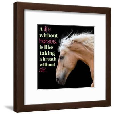 Horse Quote 7-Sports Mania-Framed Art Print
