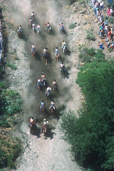 Horse Race, Omak Stampede Celebration, Omak, Washington--Photographic Print