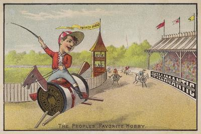 Horse Racing on Cotton Reels--Giclee Print