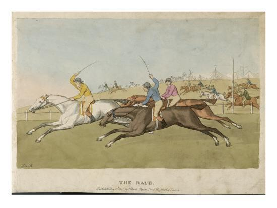 Horse Racing--Giclee Print