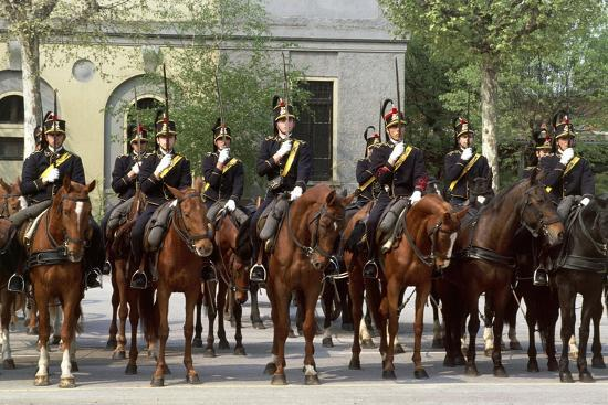 Horse Regiment Military Batteries at Cuirassiers Gala--Giclee Print