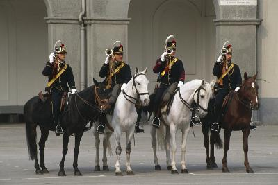 Horse Regiment Trumpeters at Cuirassiers Gala--Giclee Print