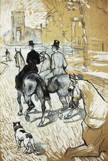 Horse-Riders Going Toward the Bois De Boulogne; Cavaliers Se Rendant Au Bois De Bologne, 1888-Henri de Toulouse-Lautrec-Giclee Print