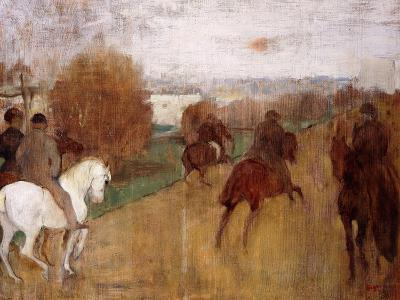 Horse Riders on a Road, 1864-68-Edgar Degas-Giclee Print