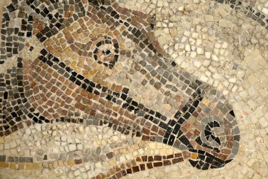 Horse Roman Floor Mosaic--Giclee Print