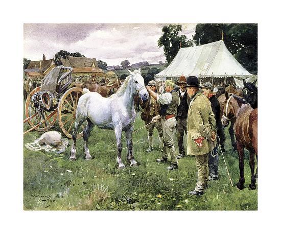 Horse Sale-Sir Alfred Munnings-Premium Giclee Print