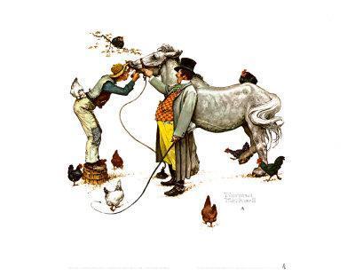 Art Print Horse Trader Norman Rockwell