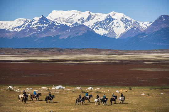 Horse Trek on an Estancia (Farm), El Calafate, Patagonia, Argentina, South America-Matthew Williams-Ellis-Photographic Print