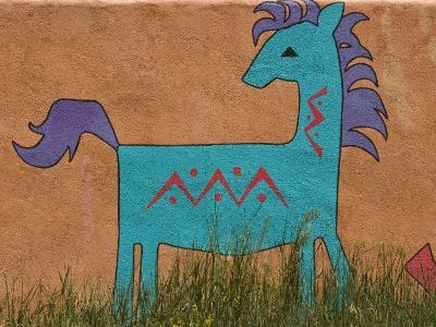 Horse Wall Mural, Santa Fe, New Mexico-Nancy & Steve Ross-Photographic Print