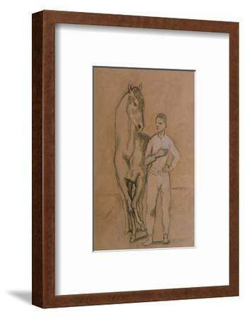 Horse with a Youth in Blue, 1905-6-Pablo Picasso-Framed Art Print